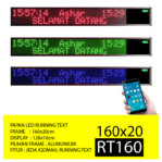 Jual Papan Led Running Text RT160 Hijau/Biru
