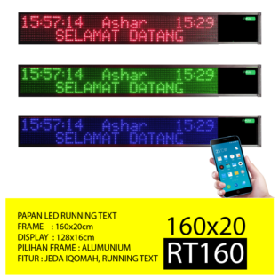 Jual Papan Led Running Text RT160 Merah