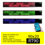 Papan LED Running Text RT90 Hijau/Biru